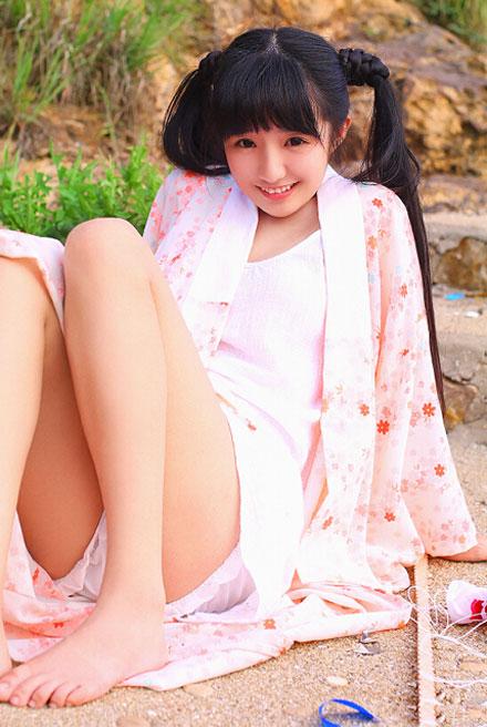 双马尾可爱美女日系浴衣写真图赏